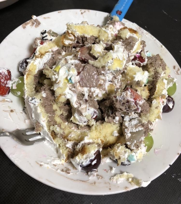 食べた後のケーキ